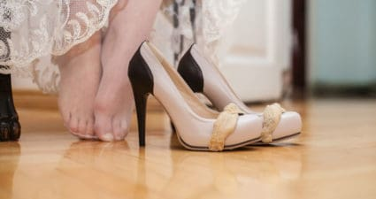 How to survive killer heels on your wedding day!
